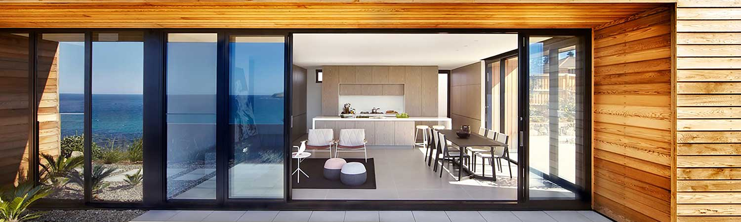 Smooth action, architecturally designed sliding doors